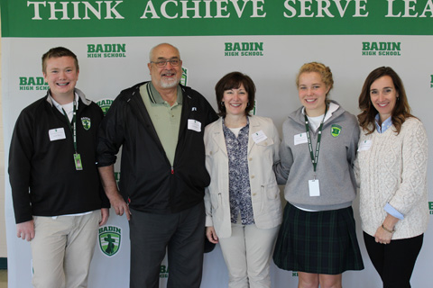 Donors and grateful Badin students
