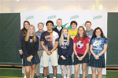 Ten Badin student-athletes celebrated at signing reception