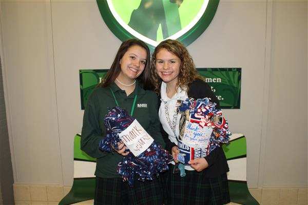 Boo-grams mean blankets at Badin High