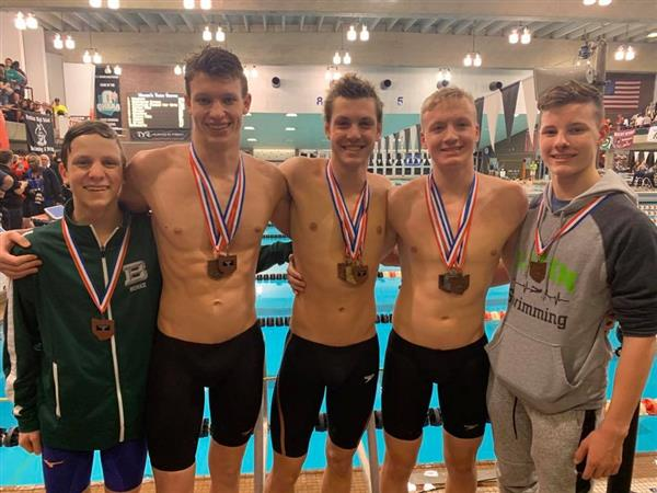 Badin Boys Swim Team goes to State!